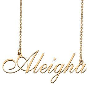 Custom Personalized Aleigha Name Necklace